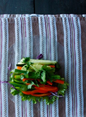 Summer Roll Vegetables Wrap