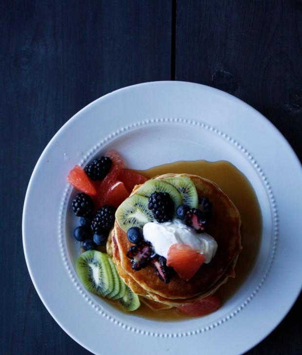 Yogurt Wheat Pancakes Top